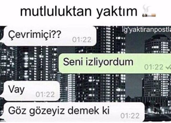 O Zaman Goz Gozeyfik Cool Words Messages Love Words