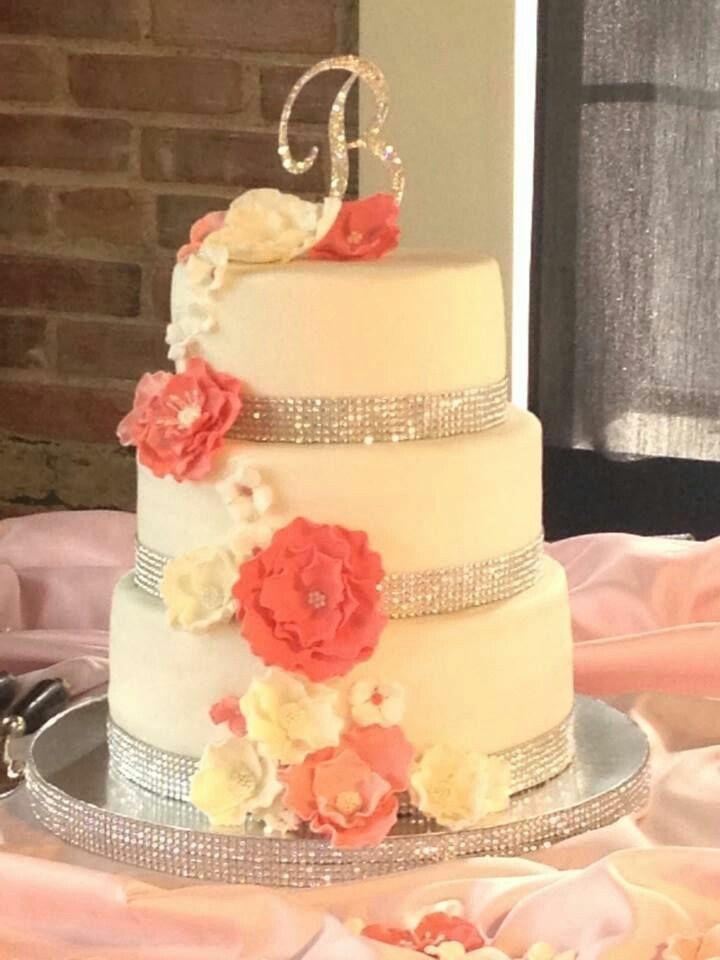 Coral Wedding | Wedding | Pinterest | Weddings, Wedding cake and Cake