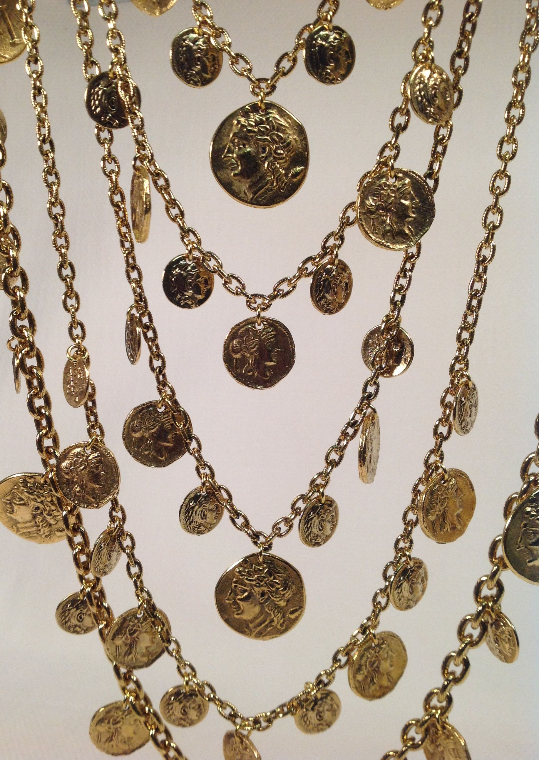 Charming. Lorren Bell multi strand coin necklace from the 2014 Fall Collection.