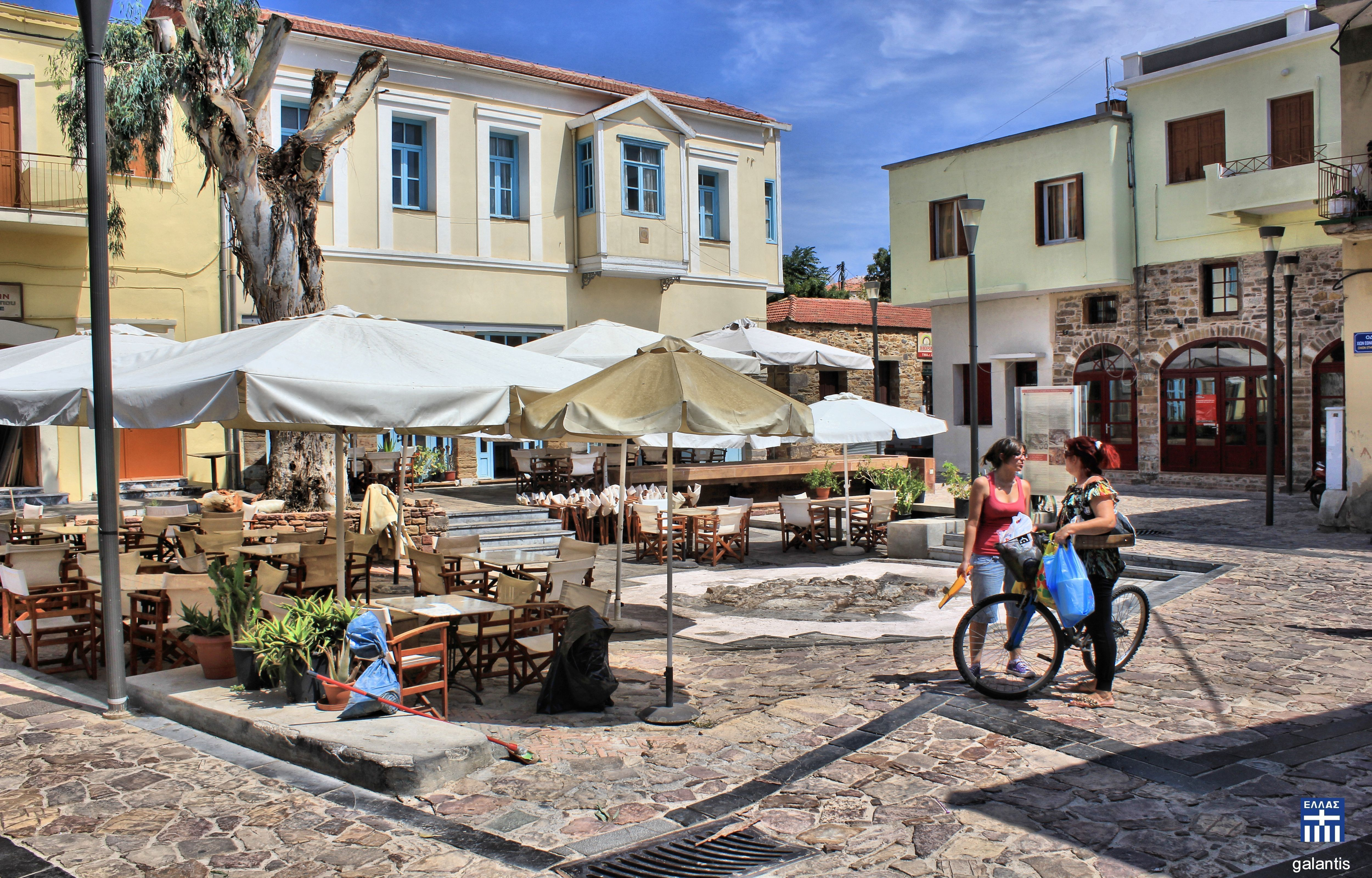 Chios old town . Chios island . \