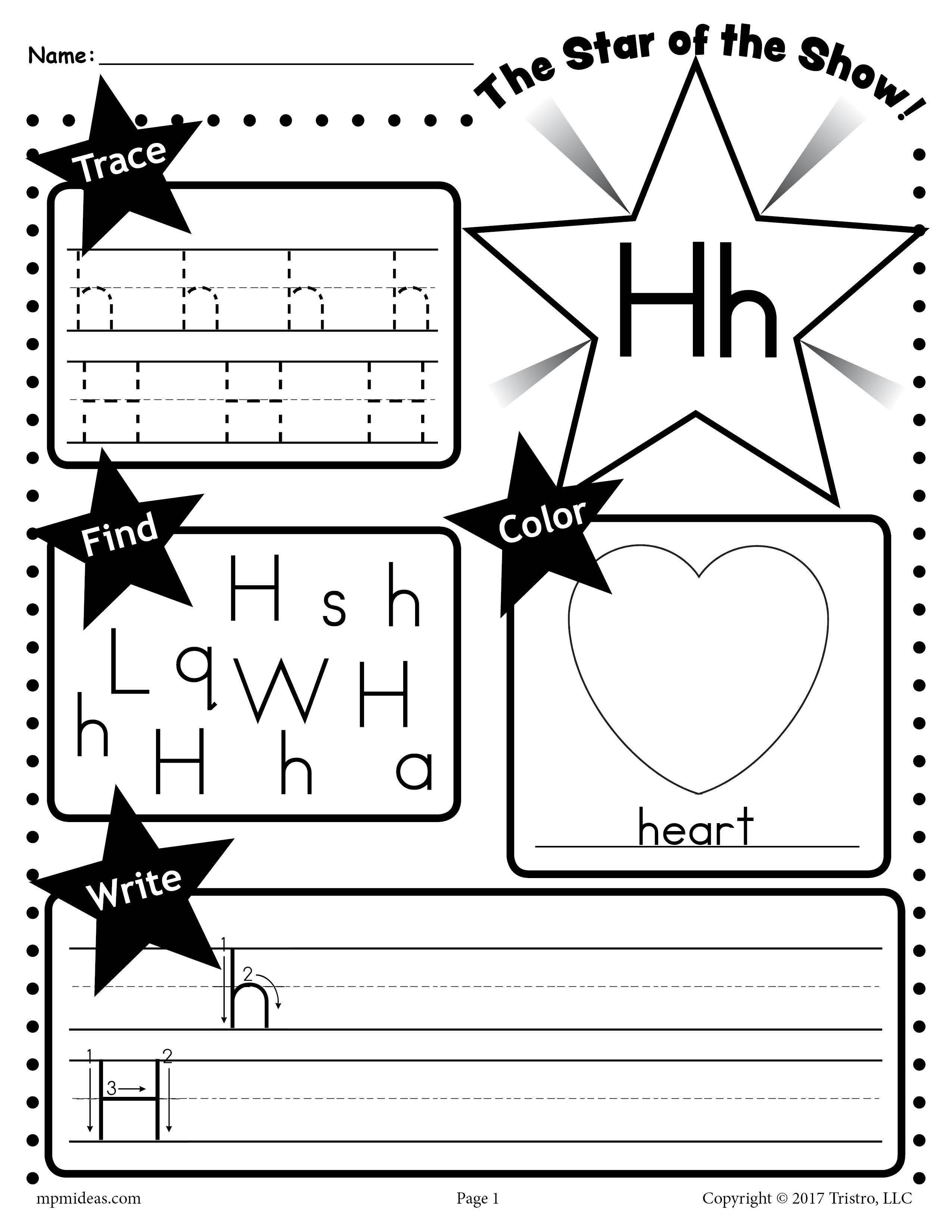 Letter H Worksheet Tracing Coloring Writing More In 2020 Letter B Worksheets Tracing Worksheets Preschool Letter S Worksheets