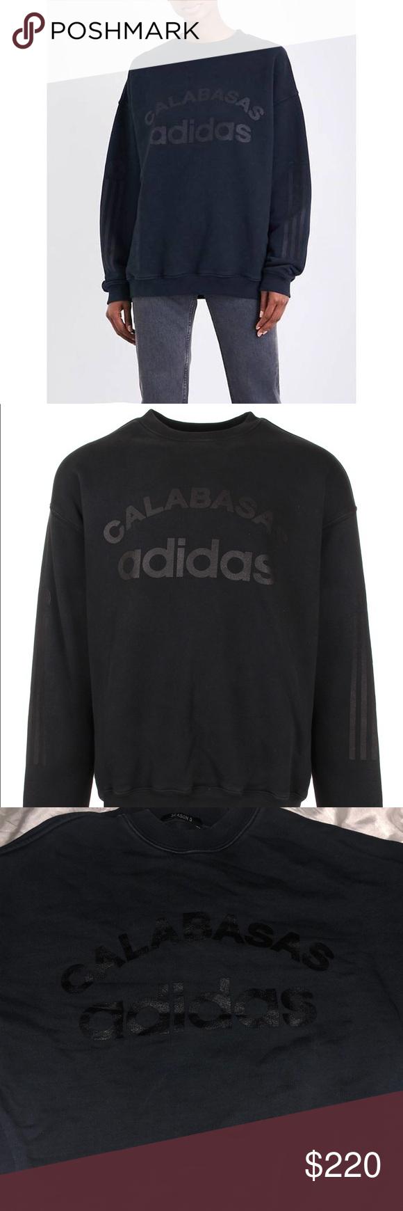 Yeezy X Adidas Season 5 Calabasas Sweatshirt From The Season 5 Collection Men S Black Yeezy For Adidas Calabasas Sweatshirt Yeezy Sweater Sweatshirts Fashion [ 1740 x 580 Pixel ]