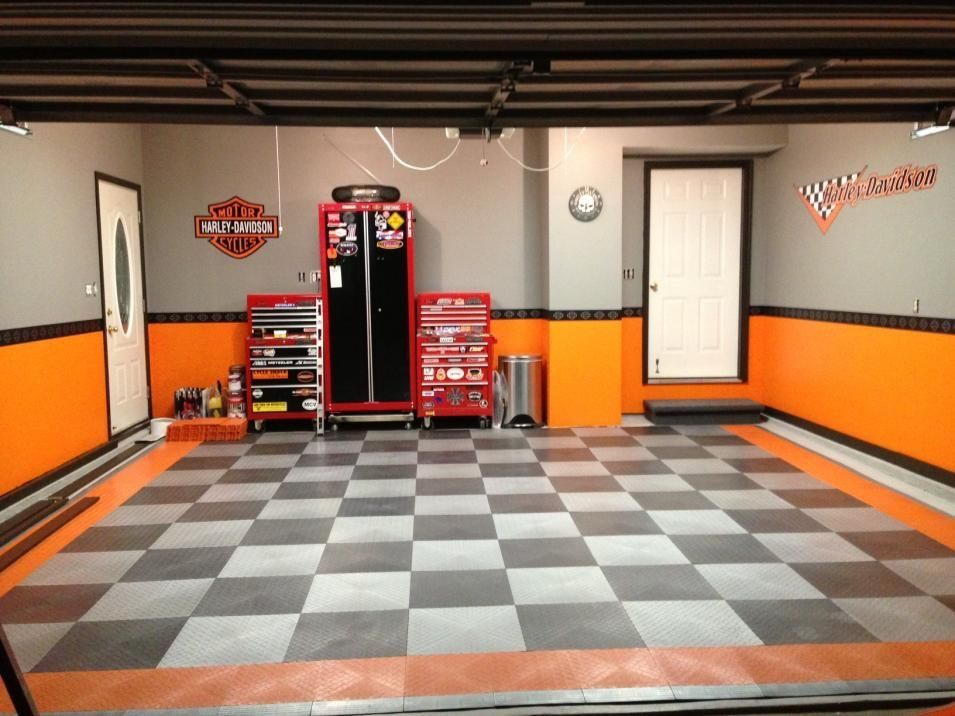 deco garage harley davidson. Black Bedroom Furniture Sets. Home Design Ideas