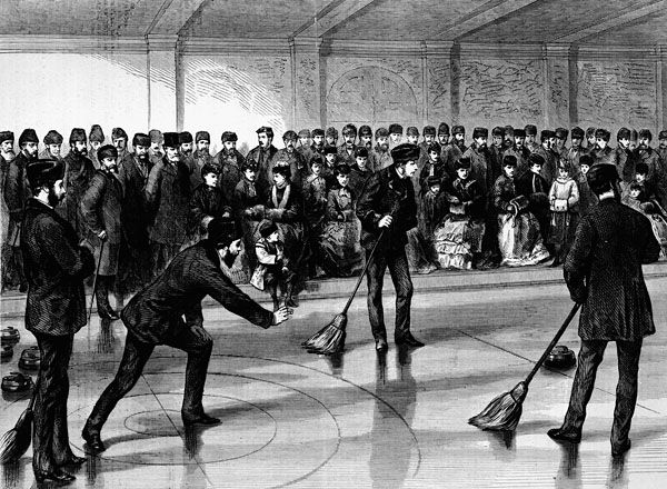 Prince Arthur Opening The Caledonia Curling Rink At Montreal 1870 Curls Montreal Old Photos