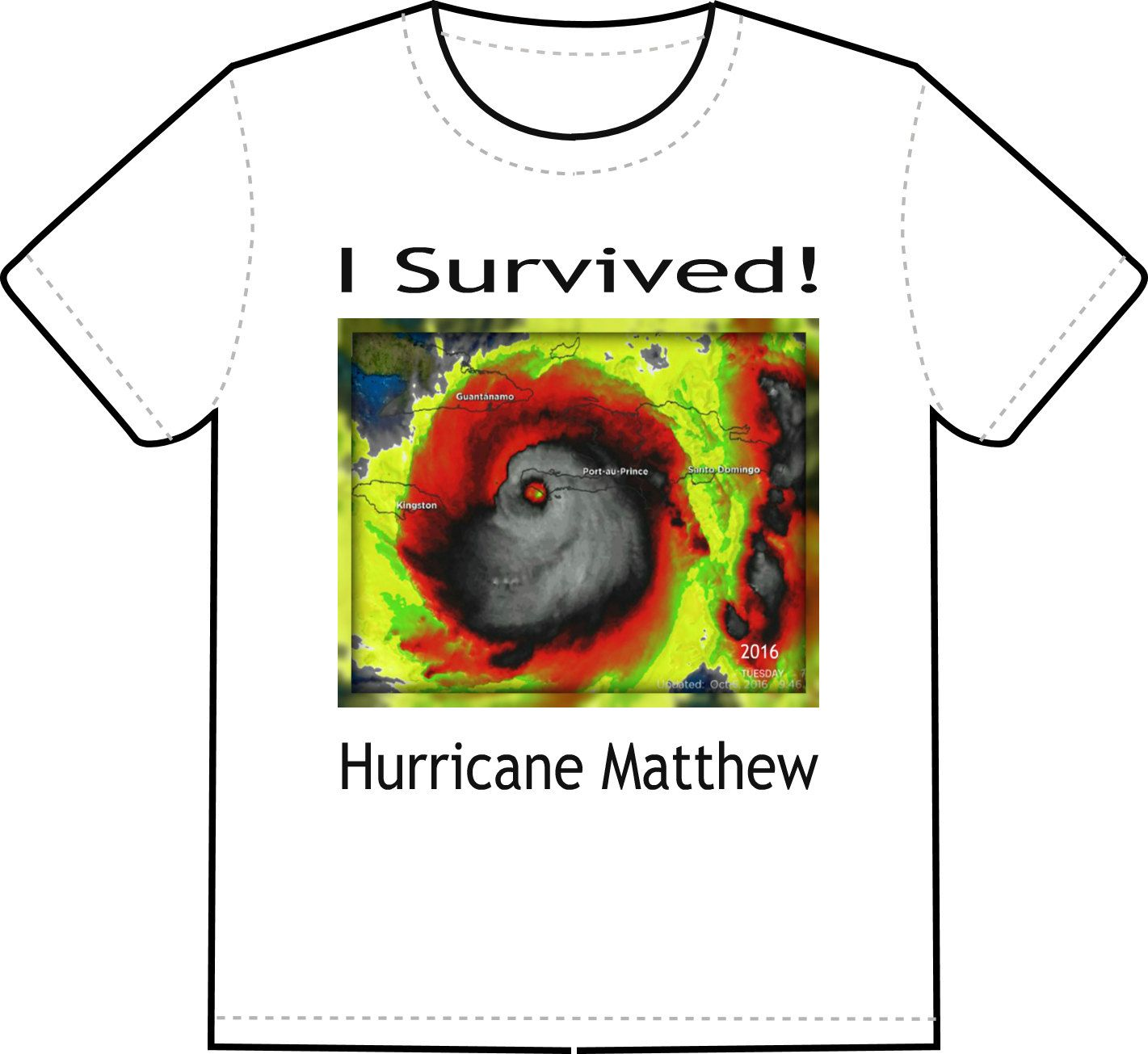 I Survived Hurricane Matthew T- Shirts, Custom T-Shirts, Custom ...