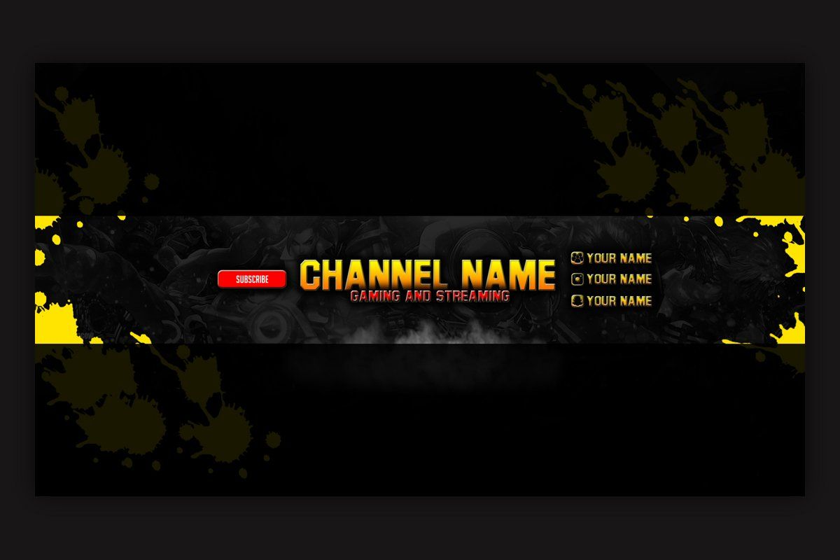 10 Gaming Youtube Banner Template In 2020 Youtube Banner Template Youtube Banners Youtube Banner Design