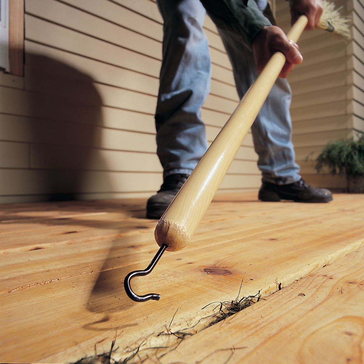 Clean The Spaces Between Your Deck Easier Cleaning Tips