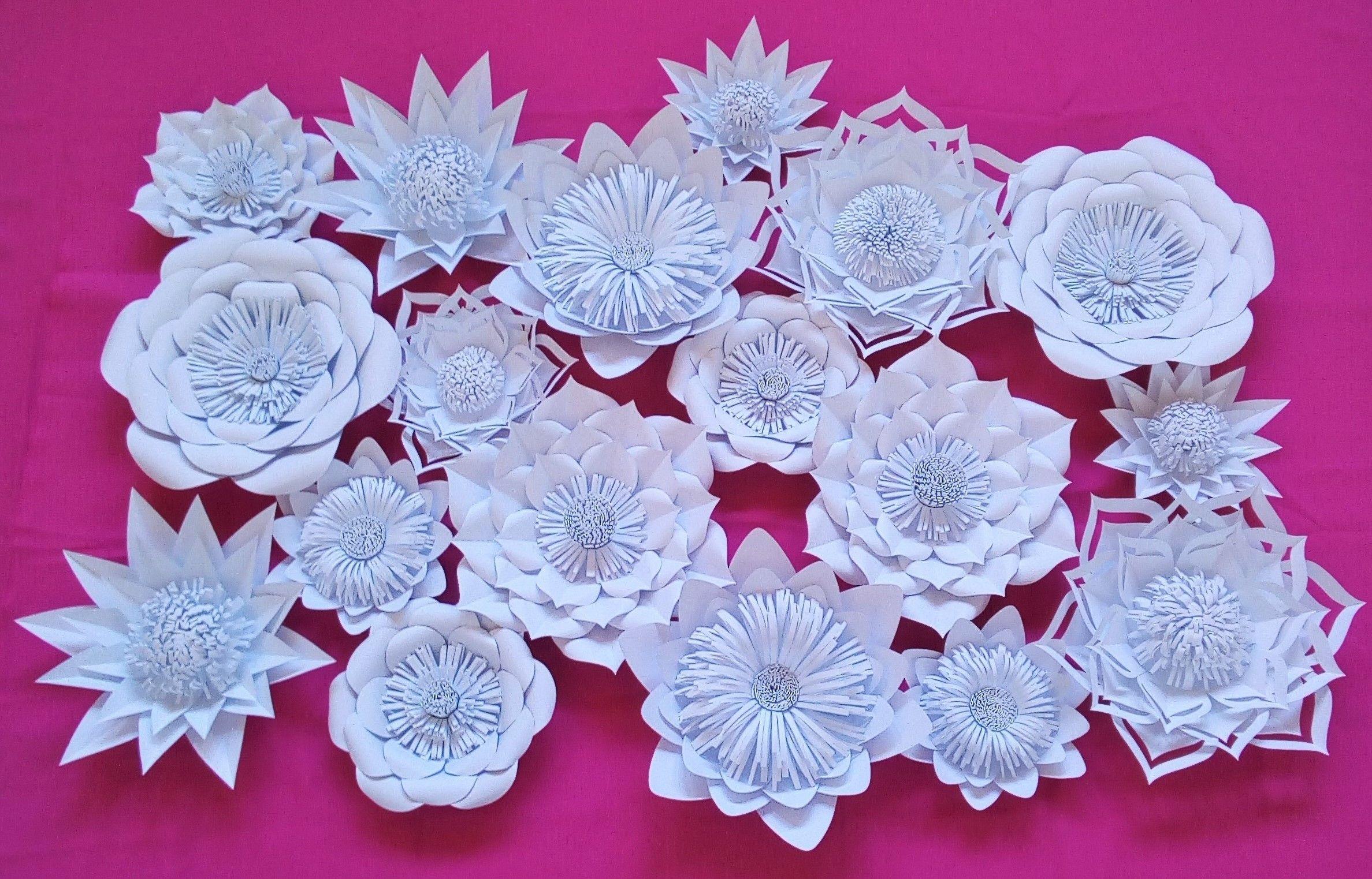Kwiaty Z Papieru Paper Flowers Kwiaty Chanel Flower Backdrop Paper Flowers Wedding Decorations