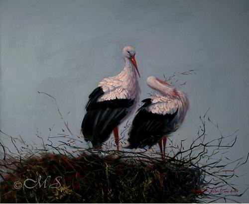 Courting 25×30 inches, Oil on Linen. Available at Bronze Coast Gallery.                                  © Margret E. Short #art #painting #oilpainting #portland