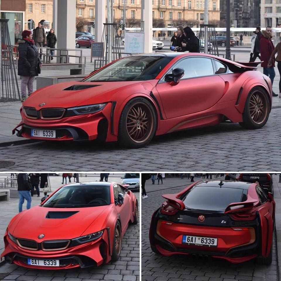 Bmw I8 Custom Matte Red Bmw Pinterest Bmw Cars Bmw A Bmw I8