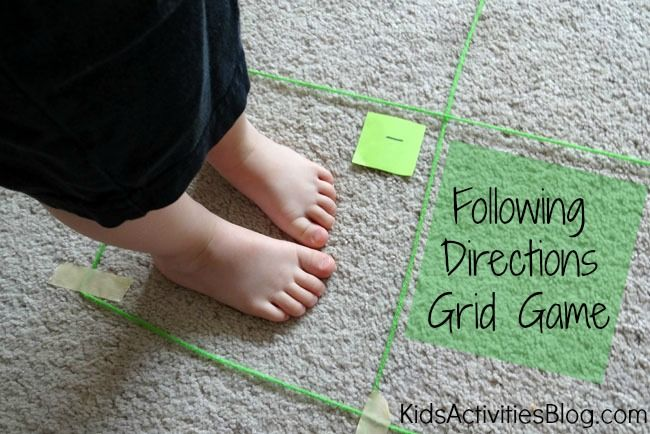 Following Directions Grid Game