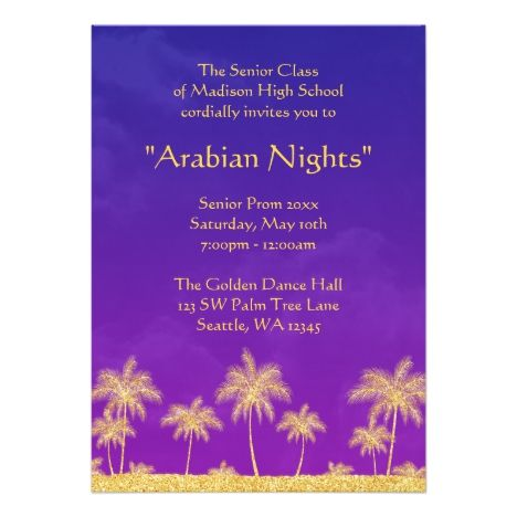 Elegant arabian nights prom formal invitation arabian nights prom elegant arabian nights prom formal invitation stopboris Images