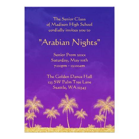 Elegant Arabian Nights Prom Formal Invitation Prom Pinterest - formal invitation