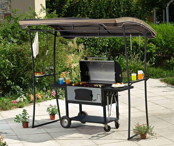 Grill Gazebo Replacement Canopy, (7' x 5') at Big Lots