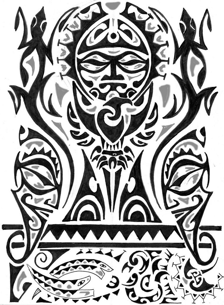Tattoo Maori Idea Disegno Complesso Fiore Pinterest