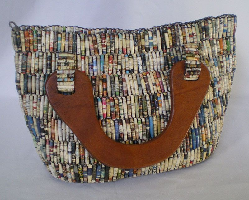 Handbags Made From Paper Beads