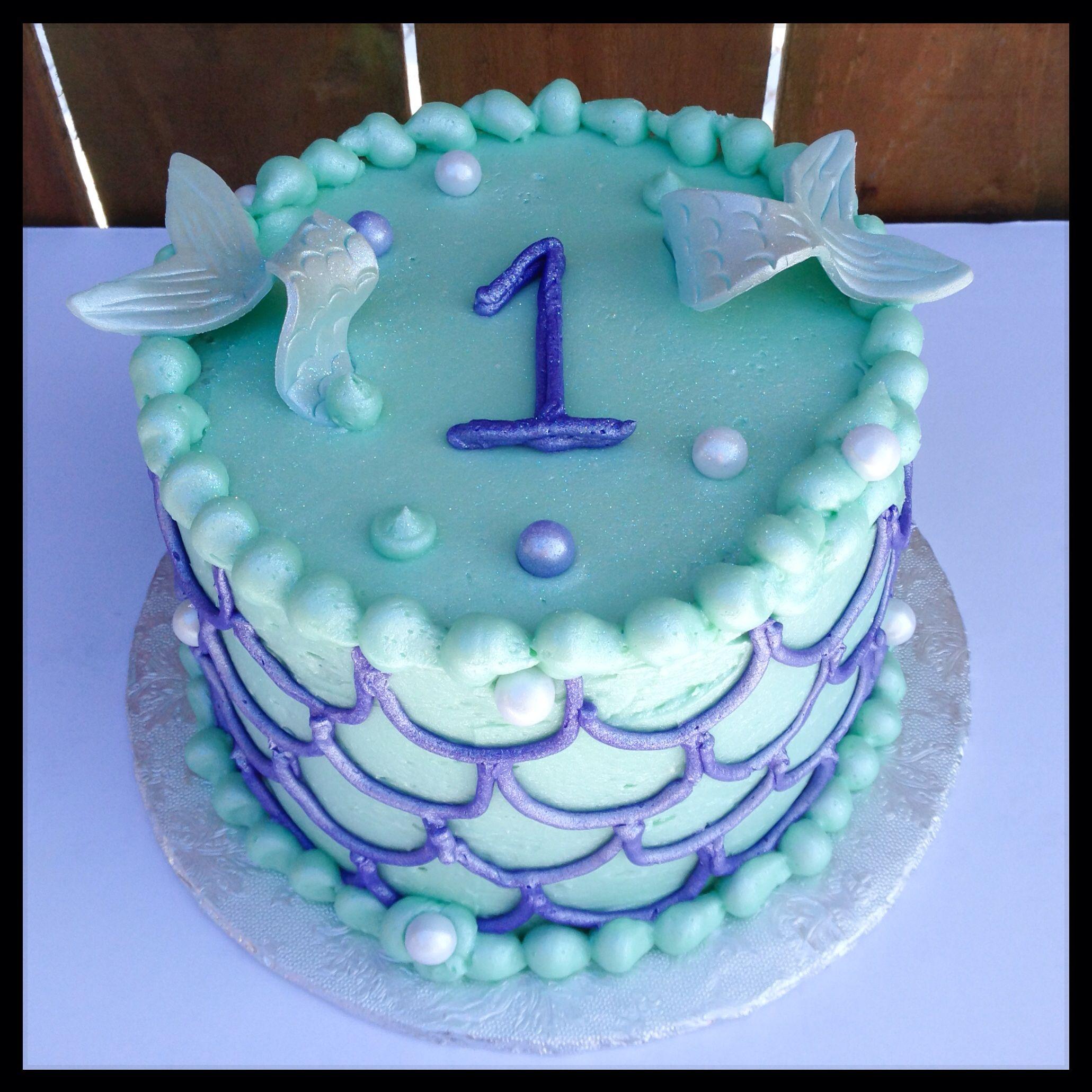 Mermaid Smash Cake Pinteres