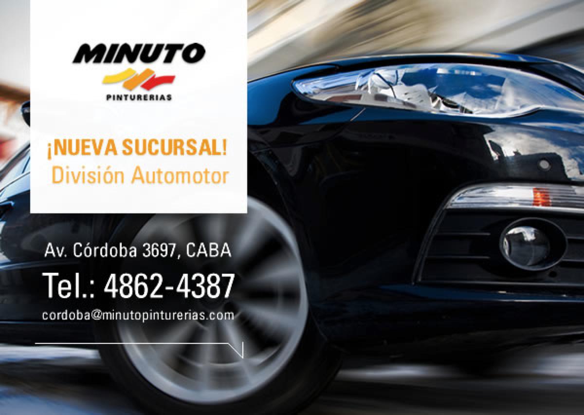 Nueva apertura. Div. Automotor  www.minutopinturerias.com