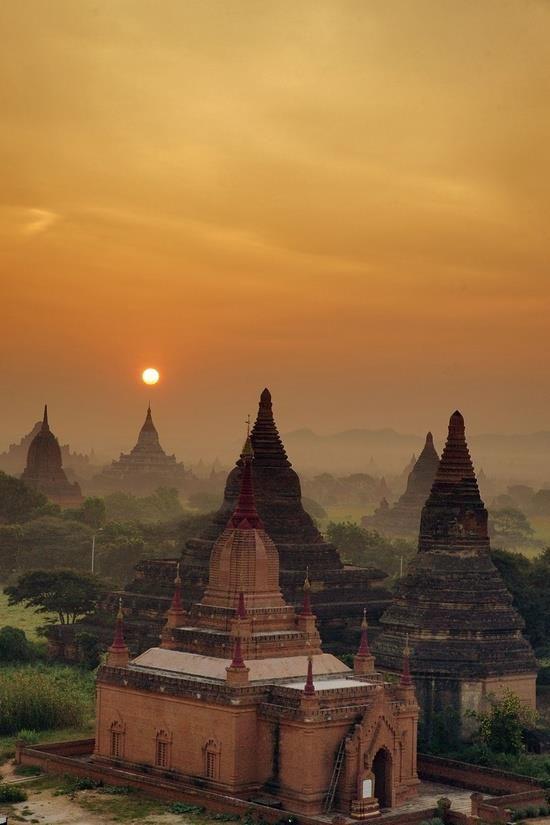 Bagan, em Myanmar.