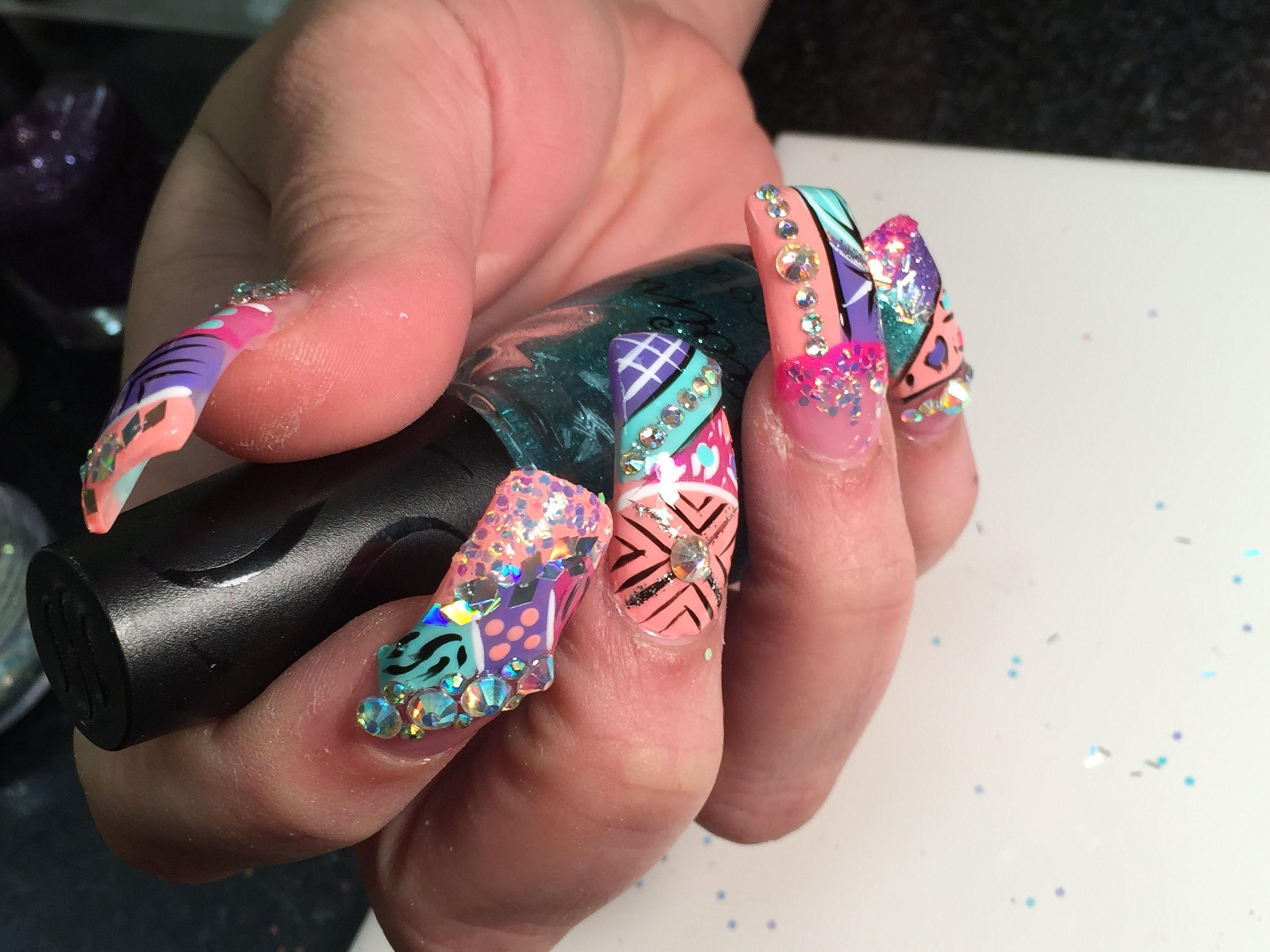 Super long acrylic nails with exotic nails design 2015 part 3 end super long acrylic nails with exotic nails design 2015 part 3 end prinsesfo Gallery