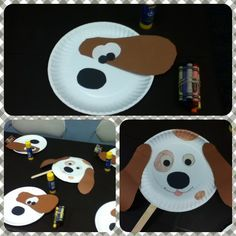 Dog mask with paper plate. Fun activity with toddlers & Dog mask with paper plate. Fun activity with toddlers   svašta ...