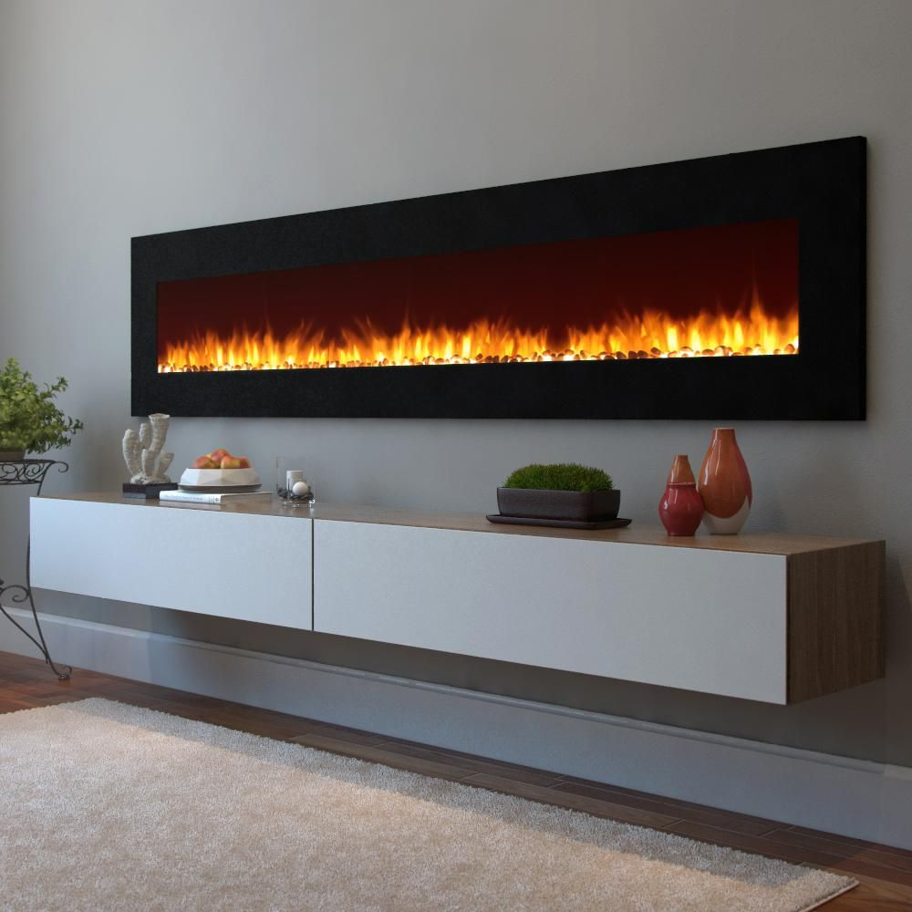 Wall Mounted Electric Fireplaces At Home Depot