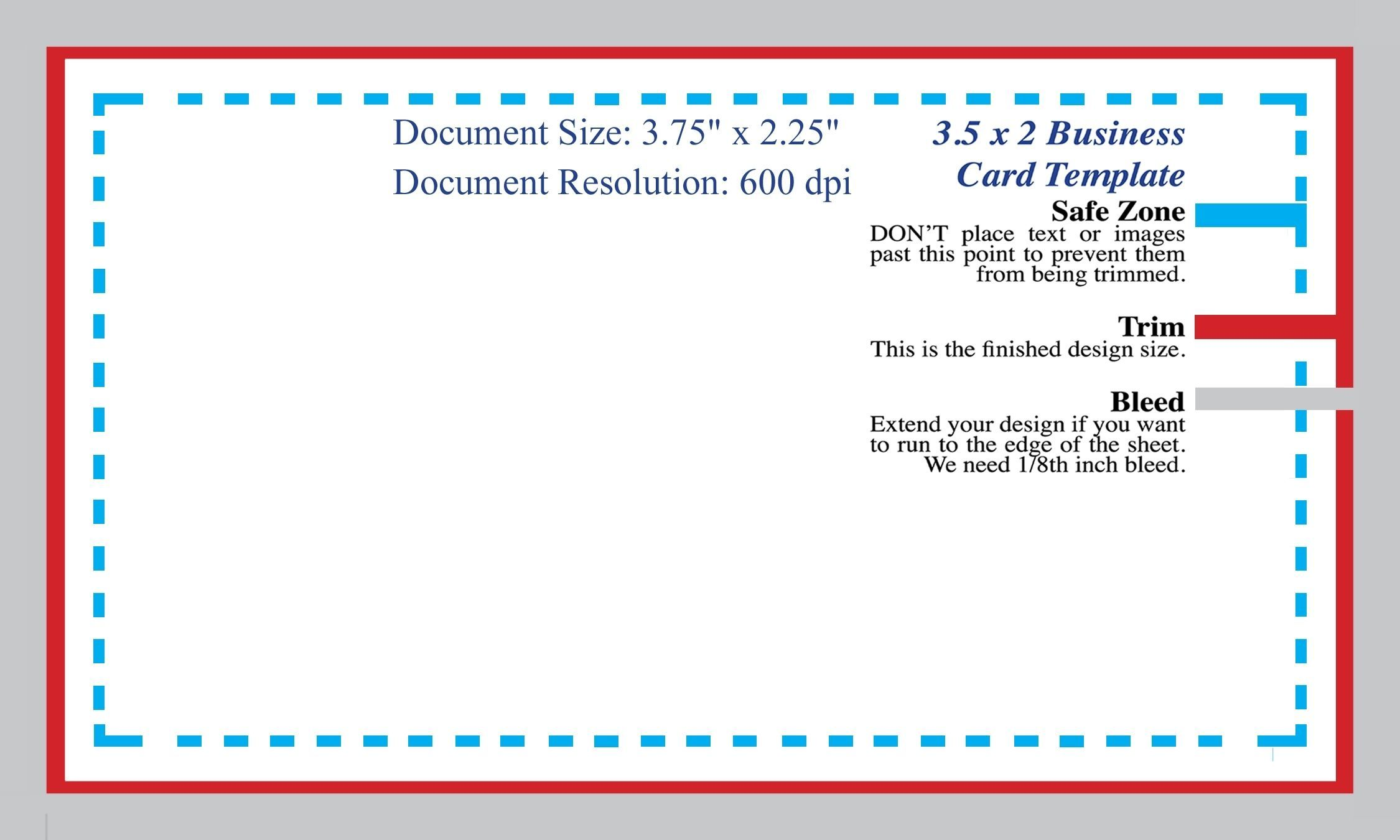 Standard Business Card Blank Template Photoshop Template Design