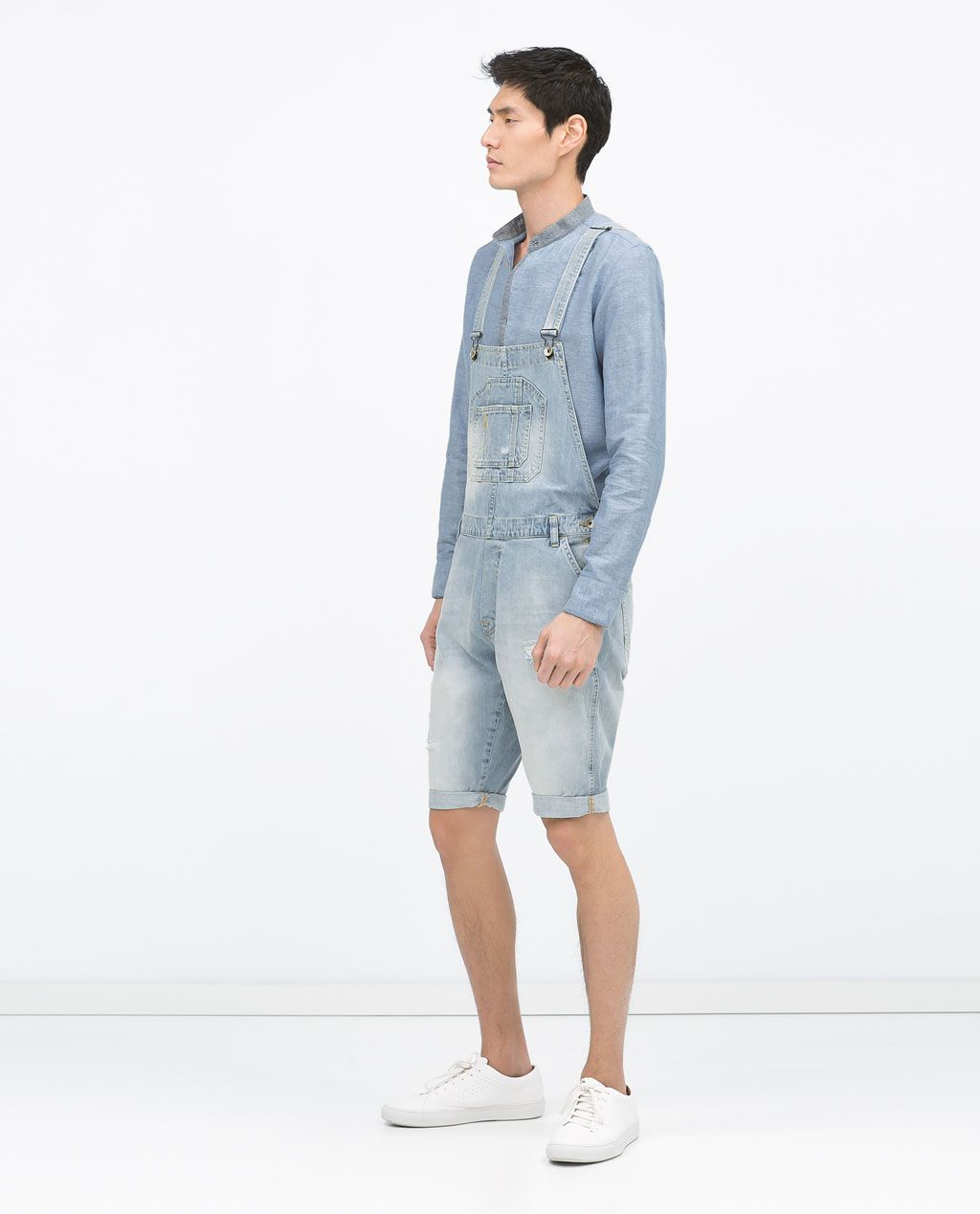 image 1 of short denim dungarees from zara pur chase these pinterest. Black Bedroom Furniture Sets. Home Design Ideas