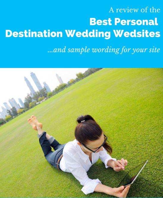 The Best Destination Wedding Website -Reviews & Examples | Wedding ...