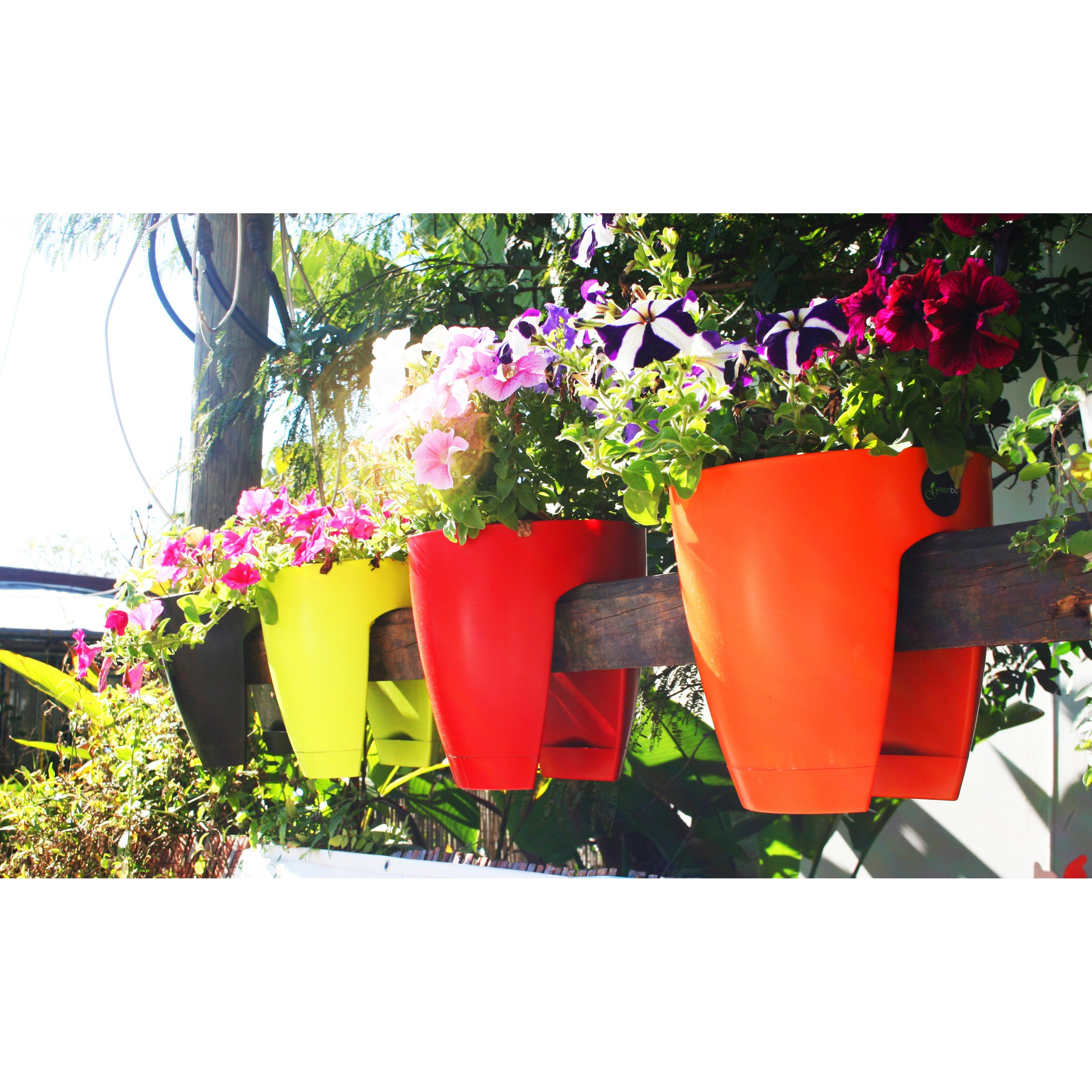 Have To Have It Greenbo Designer Rail And Deck Planter Set Of 2