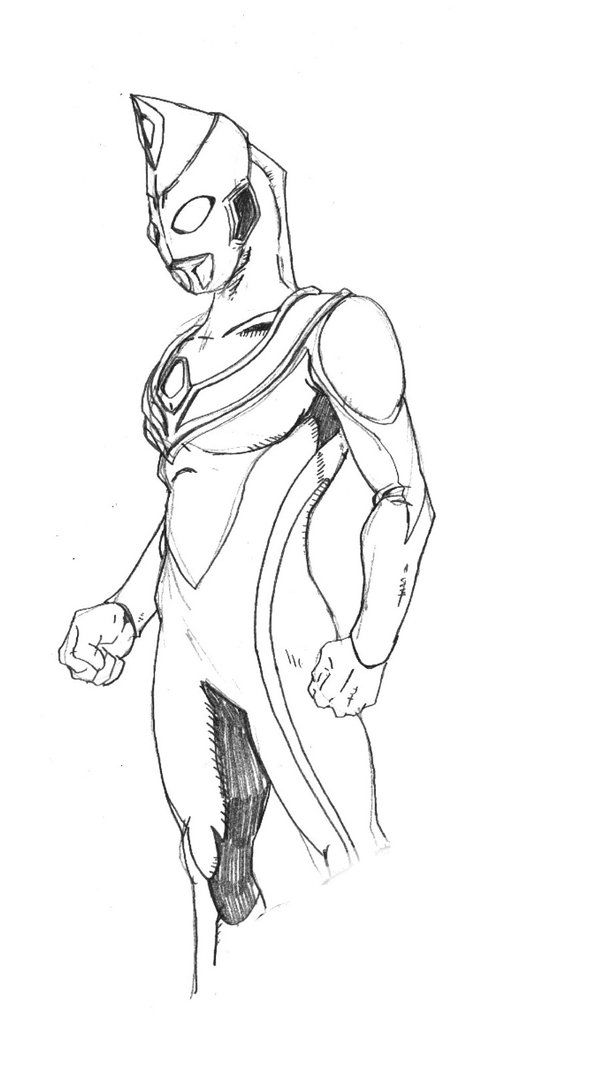 Ultraman Dyna Sketch By Onore Otakudeviantart On DeviantART