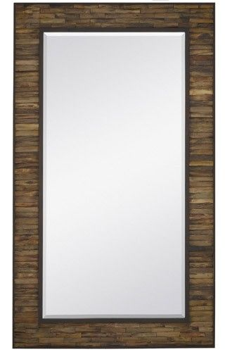 Majestic Oversized Rectangular Wall Mirror   The Majestic Oversized  Rectangular Wall Mirror Is Large And Lovely With A Beautifully Crafted  Natural Wood ...