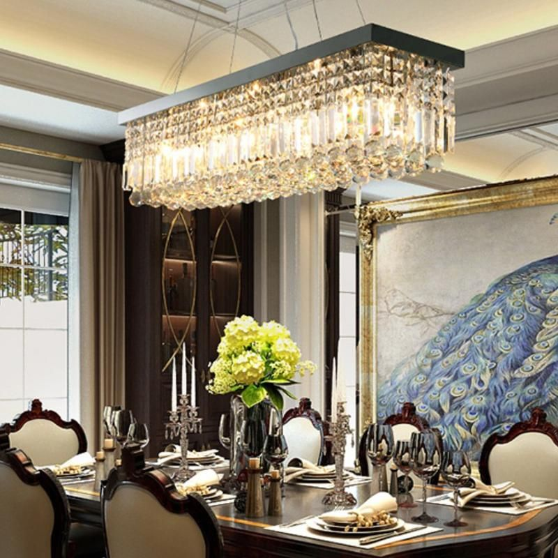 Rectangular Crystal Chandelier Dining Room Crystal Chandeliers Crystal Chandelier Dining Room Dining Room Chandelier Glass Chandelier Dining Room