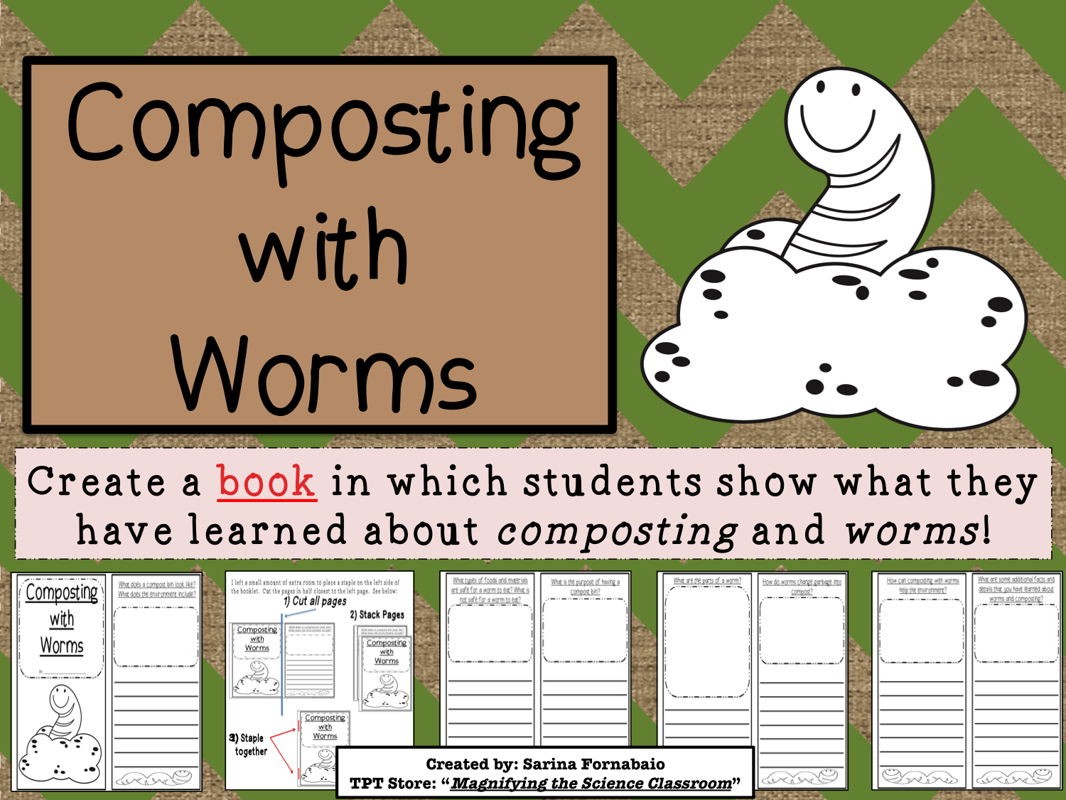 Composting With Worms Booklet Activity