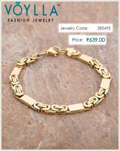 fd1970e6f4df8 Gold Plated Designer Dare by Voylla Bracelet For Men | Bracelets For ...