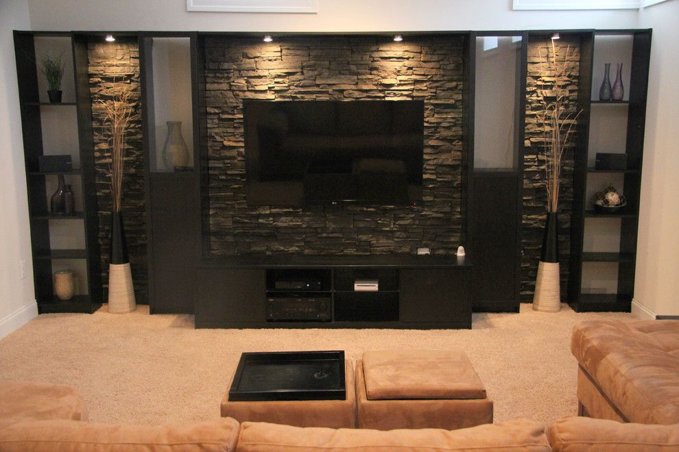 impressive billy bookcase decorating ideas for basement contemporary design ideas with impressive basement entertainment centerjpg - Entertainment Center Design Ideas