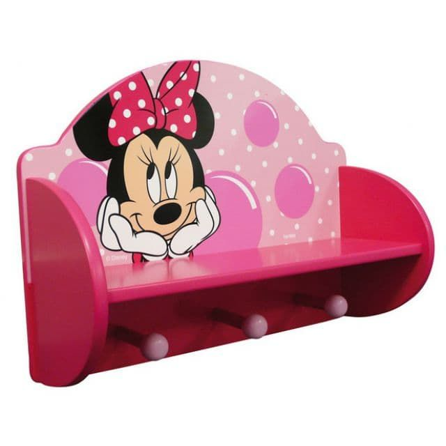 Disney Minnie Mouse Wooden Coat Rack U0026 Shelf