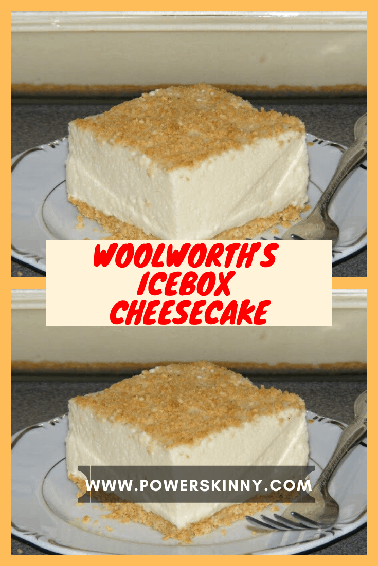 Woolworth S Icebox Cheesecake Power Skinny In 2020 Evaporated Milk Recipes Creamy Snack Biscuit Recipe