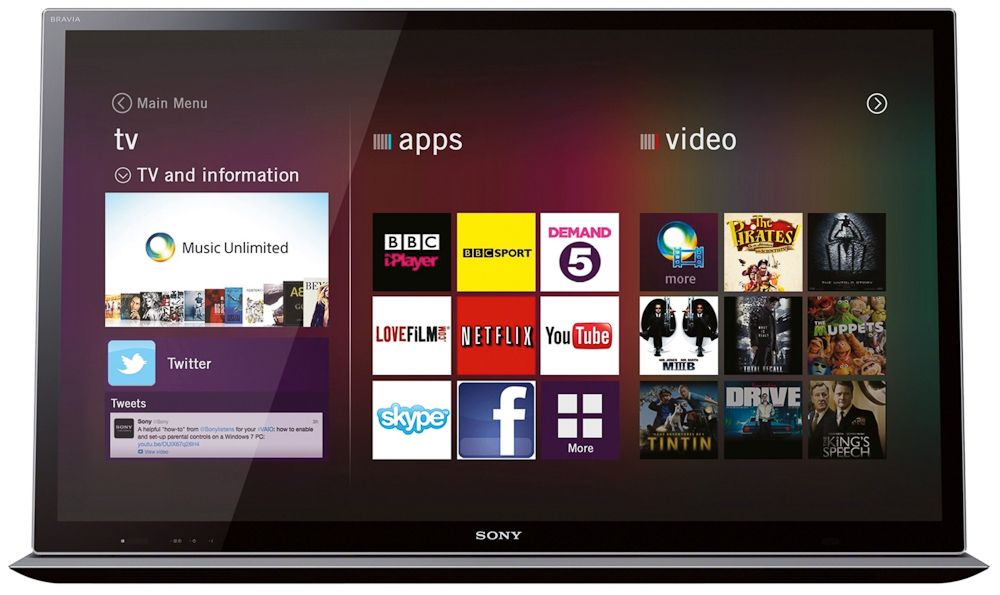 Sony Smart TV: Entertainment Network Review | TV, Video and Hi-Fi ...