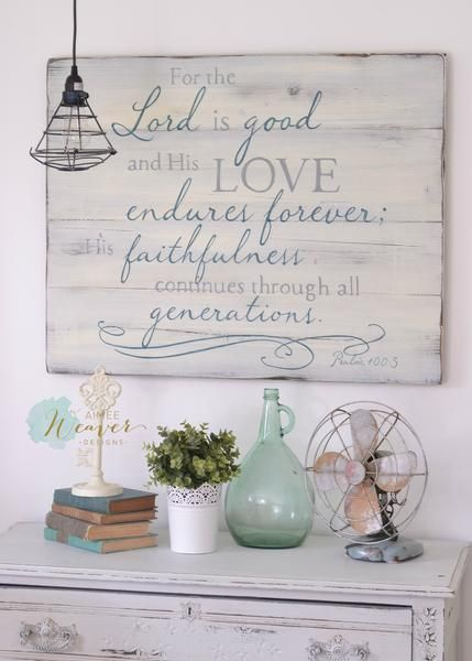 """""""For the Lord is Good"""" Wood Sign {semi-custom}"""
