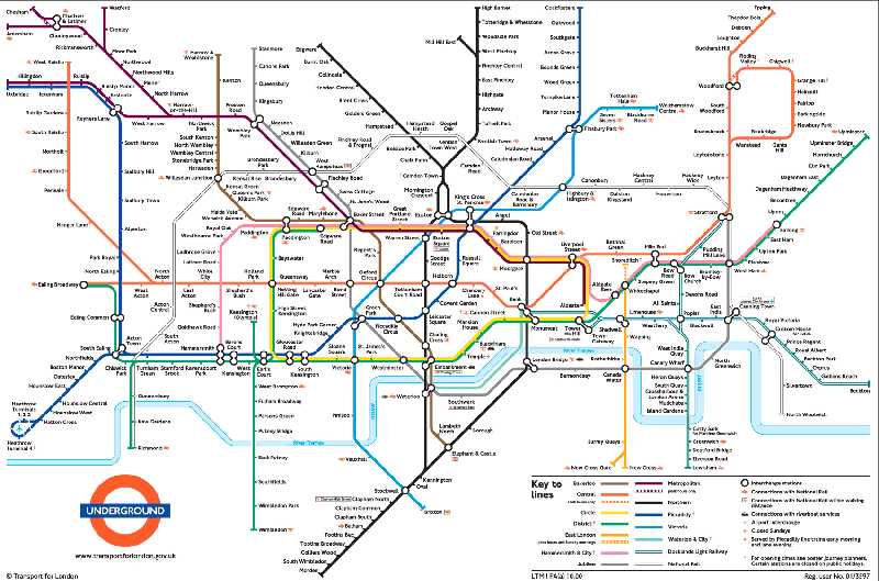 London Underground Map Harry Beck 1931 Timeless Attractive: London Subway System Map At Infoasik.co