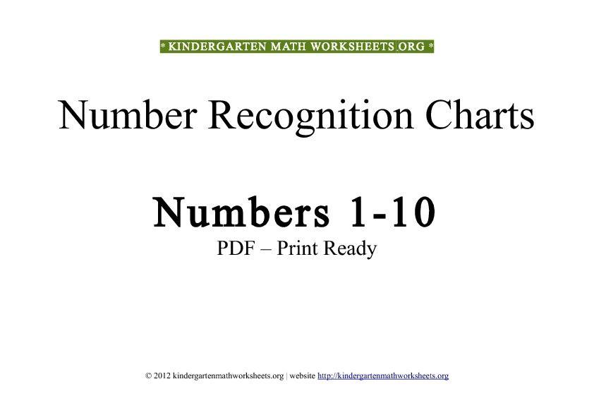Kindergarten Worksheets Numbers 1 10 kindergarten worksheets – Numbers 1-10 Worksheets Kindergarten