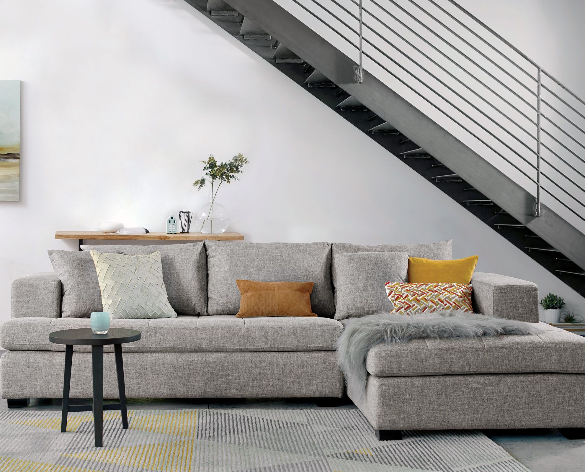 Mirak Sectional Left Seated Chaise Brown Living Room Decor Living Room Grey Trendy Living Rooms