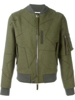 star motif bomber jacket