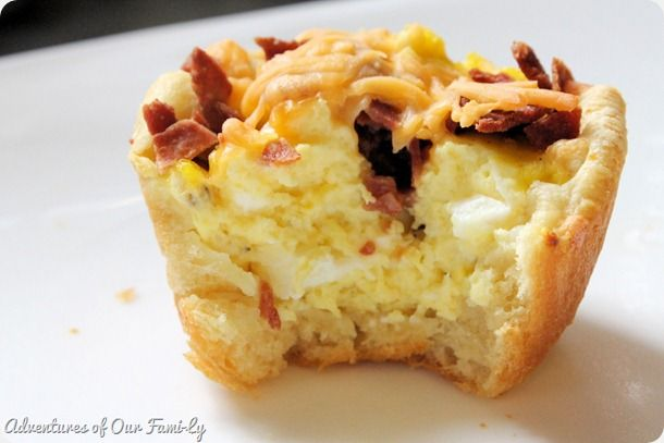 Bacon, egg, cheese breakfast cups