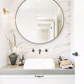 20+ Simple Bathroom Mirror Design For Minimalist ome ...
