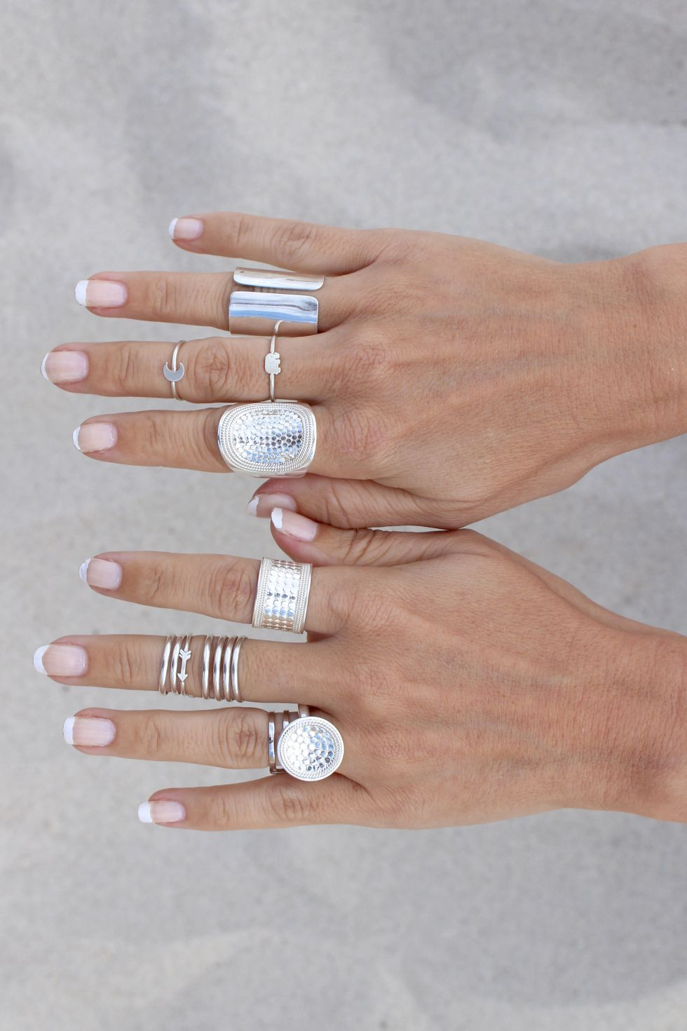 silver rings // #pileiton #planetblue