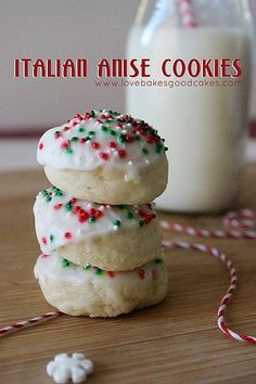bite into a classic italian favorite anise cookies this holiday season these festive cookies always make the holiday cookie baking list and for a - List Italian Christmas Cookies