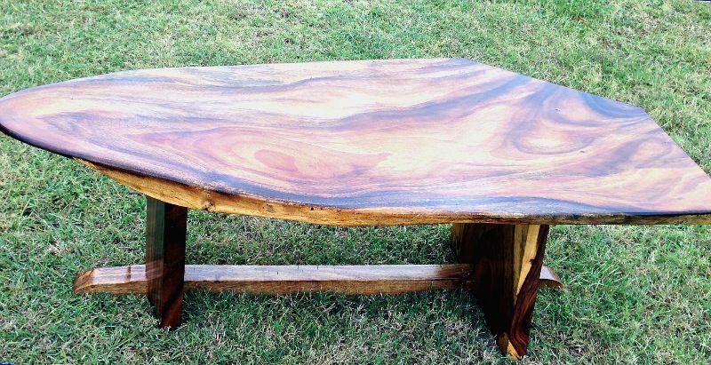 Monkey pod coffee table 60 long x 24 wide x 19 high for Coffee tables 24 high