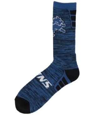 For Bare Feet Detroit Lions Jolt Socks - Blue L